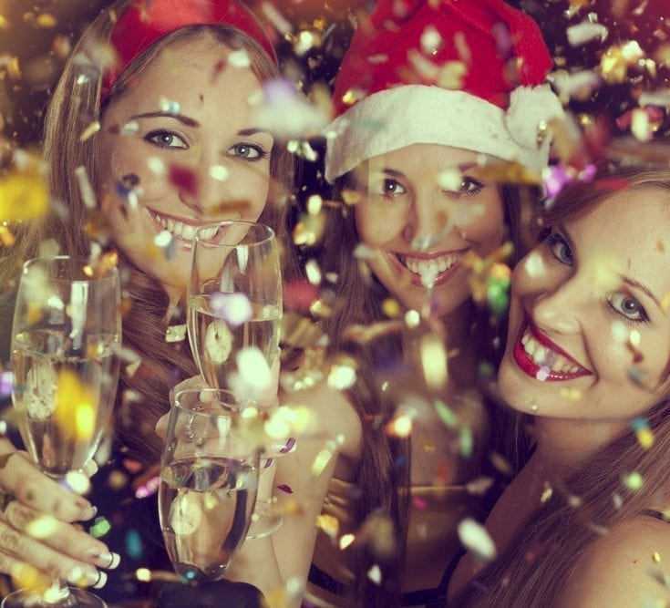 girls party christmas night out festive healthy eating