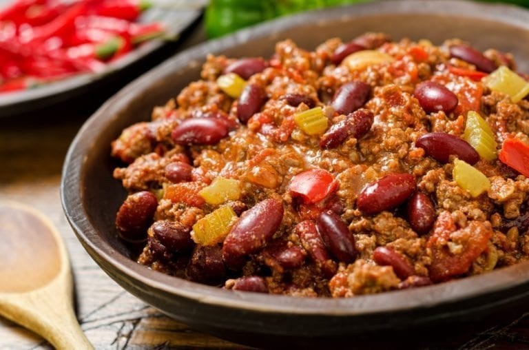 chilli, chilli con carne, mince, healthy recipe, diet, weight loss,