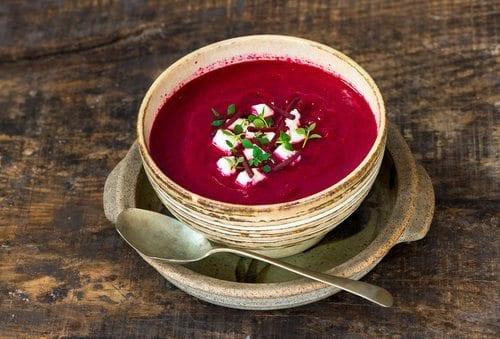 seasonal food beetroot soup october autumn