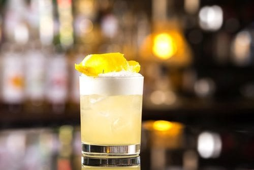 lemon cocktail egg whites gin healthy weight loss