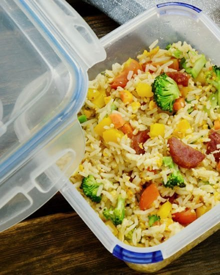 lunch, fried rice, lunchbox, healthy, diet, weightloss, easy, recipe,