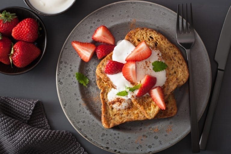 cinnamon french toast, healthy, diet, french toast, weight loss