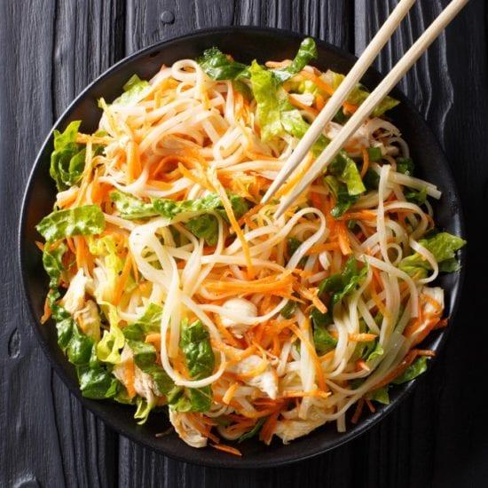 vietnamese chicken noodle salad healthy lunch diet weight loss slimming world weight watchers