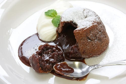chocolate fondant dessert healthy food