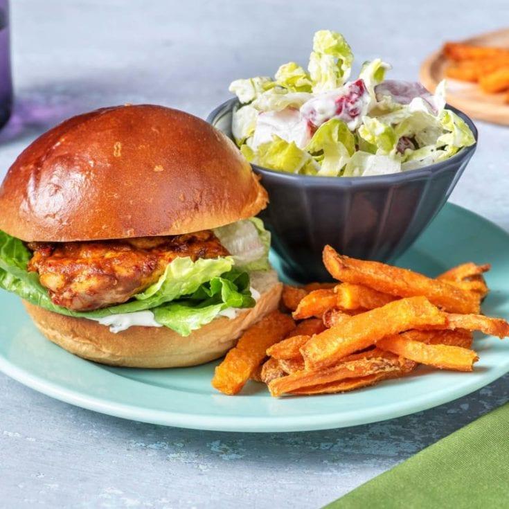 chicken-burger-with-sweet-potato-fries-unislim